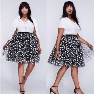 Polka Dot Tulle Skirt Lane Bryant Size 18/20